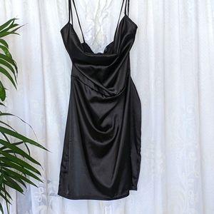 Missguided Little Black slip Mini dress